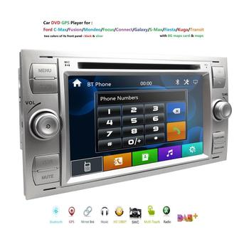 2din Car DVD GPS Navi Player Stereo Radio Audio For Ford Focus 2 Mondeo S C Max Fiesta Galaxy Connect With 8G map usb rds swc bt image
