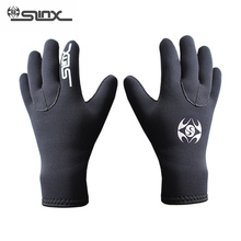 SLINX 3mm Neopren Warm Scuba Diving Gloves Menn Kvinner Snorkling Spearfishing Windsurfing Surfing Båtliv Anti-scratch Hansker