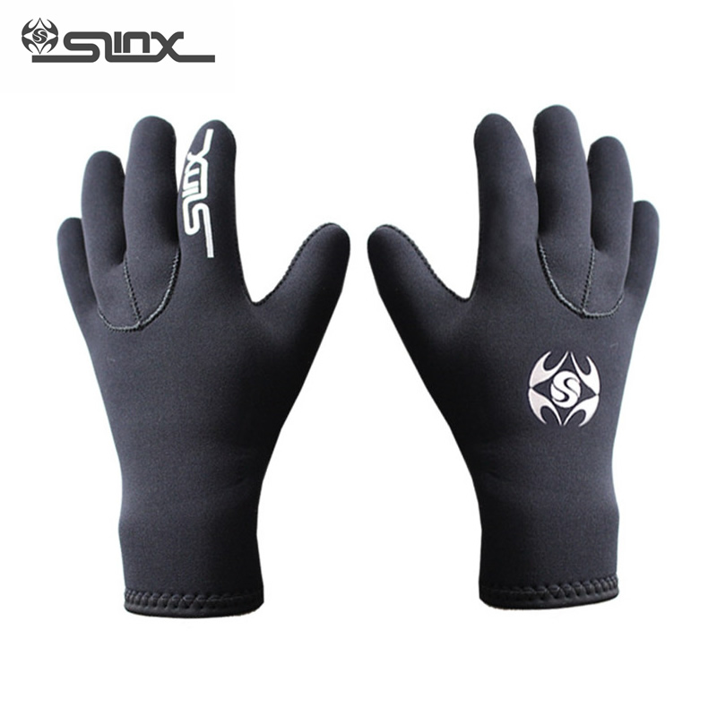 SLINX 3mm <font><b>Neoprene</b></font> Warm Scuba <font><b>Diving</b></font> <font><b>Gloves</b></font> Men Women Snorkeling Spearfishing Windsurfing Surfing Boating Anti-scratch <font><b>Gloves</b></font> image