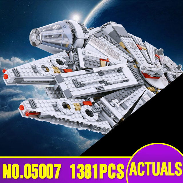 LEPIN 05007 Star Series Wars Millennium  Toys Falcon Educational building blocks marvel Kids Toy Compatible with 10467