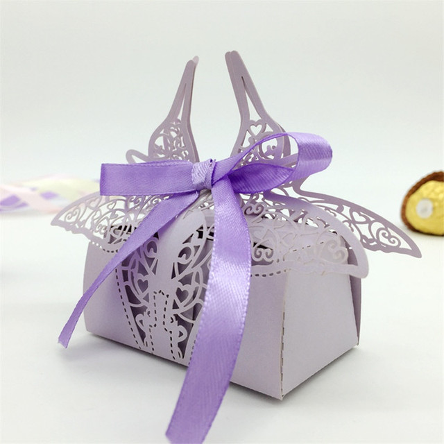 Penguin Laser Cut Love Heart Wedding Invitations Candy Bo Favors And Gifts With Ribbon Bride