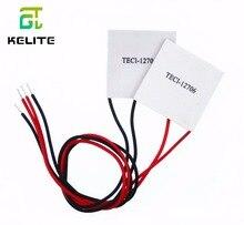 HAILANGNIAO 50 sztuk TEC1 12706 12v 6A TEC moduł peltiera do chłodzenia termoelektrycznego (TEC1 12706)
