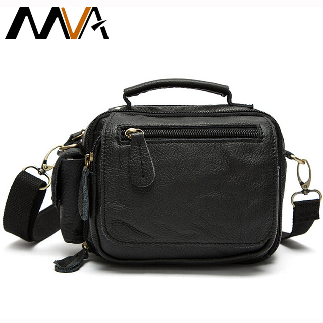 MVA Men's Waist Bag Genuine Leather Men Bags Waist Pack Chest Bag Man Casual Travel Zipper Belt Bags Male Small Flap Fanny Pack