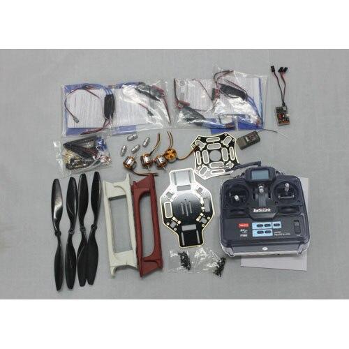 цена JMT RC 4 Axle Multi heli Quadcopter UFO ARF Kit: F450 Frame + A2212 Motor + HOBBYWING ESC + CF Pros + 6CH TX RX F02192-G