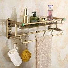Мода античная медь ванная комната косметический полка крюк вешалка для полотенец род gy1022