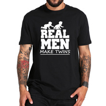 Fitness-Tshirt Father-Day-Gift Funny Twins Real Graphic 100%Cotton Makes Soft Eu-Size