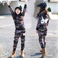 Sales Spring New 2017 Fashion Kids Casual Striped Clothing Set Children Boys Girls Costume Hoodies Clothes