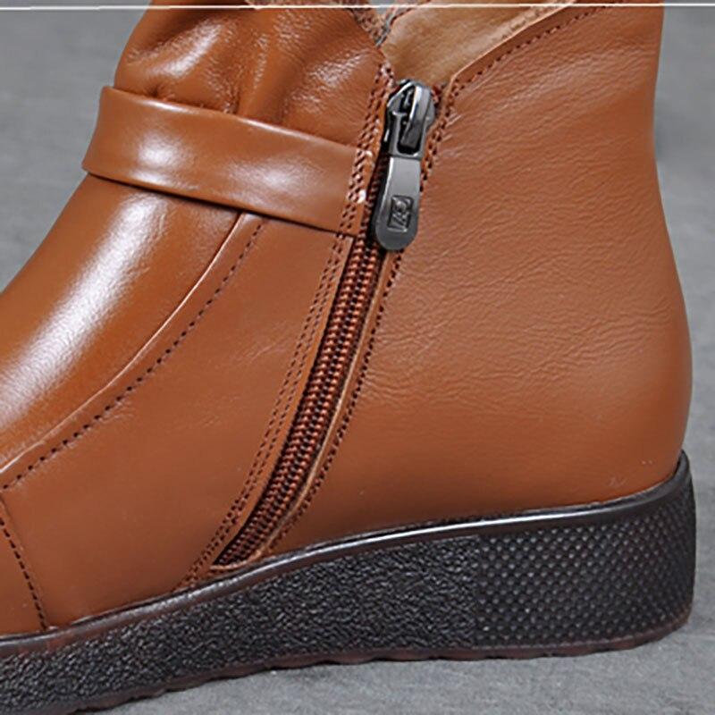Stiefel Runde Warme Baumwolle Flusen Schwarzes Hinzufügen yellow Hohe Schuhe Frauen Mit Schuhe Winter Joker rot Hilfe wein Kopf Kurze Mutter Brown 8OqwdzxBx