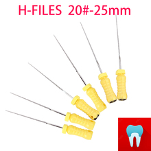 6pcs 20#-25mm Dental Protaper Files H Root Canal Dentist Materials Dentistry Instruments Hand Use Stainless Steel