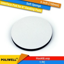 6 Inch(150mm) Soft Sponge Interface Pads for Back-up Sanding Pad and Hook&Loop Discs Uneven Surface Polishing