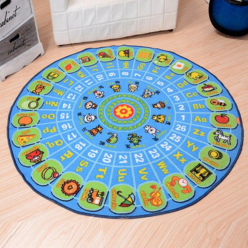 Tapis rond pour enfants puzzle plateau tournant animaux alphabet tapis de sol salon maison tapis pour enfants développer des tapis d'intelligence