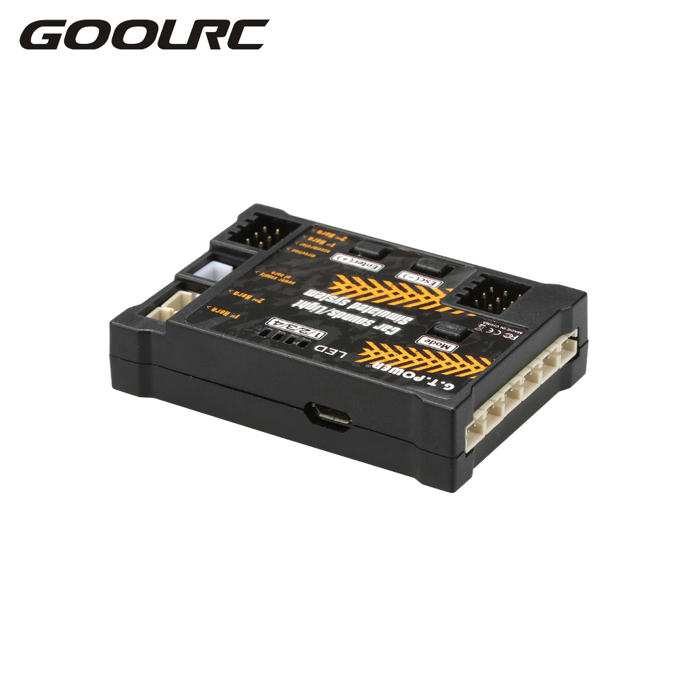 GOOLRC RC Car Toy Module Sounds Light Simulated System for Road Grader Climbing Car SUV Remote