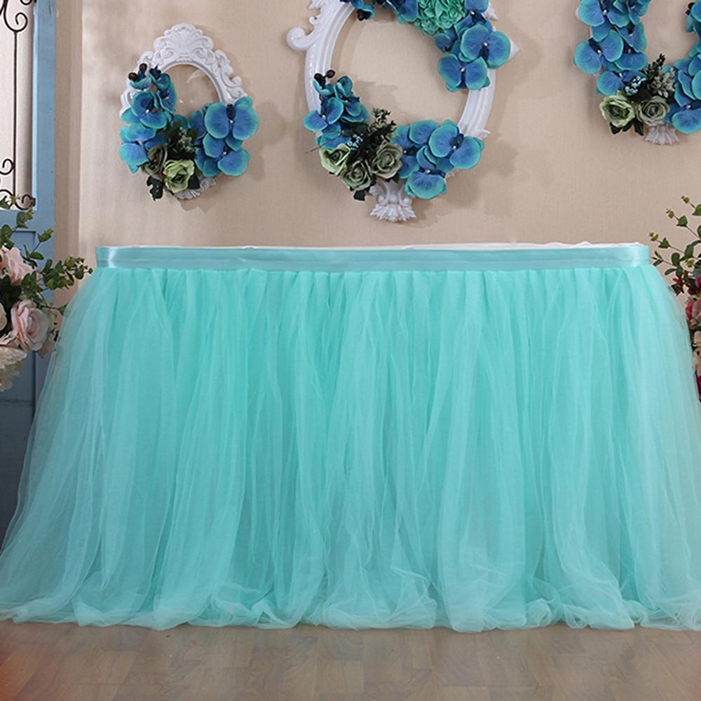 Toalha de mesa elástica de tutu, 1 peça, 100x80cm, malha de tule, para aniversário, casamento, festa de decoração, decoração de casa, pano de mesa, 1 peça