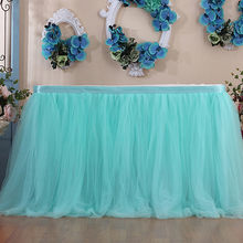 Dropshipping 1PC 100X80CM Tutu Tulle Elastic Mesh Tableware Tablecloth For Birthday Wedding Festive Party Home Decor Table Cloth(China)