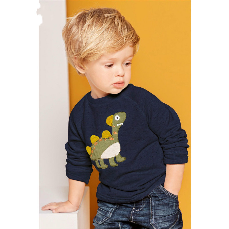 Kids Boys T Shirt Long Sleeve Dinosaur Outfit Baby Boy Sweatshirt Appliques Children Clothing Casual Spring Tops for 1-6 Years