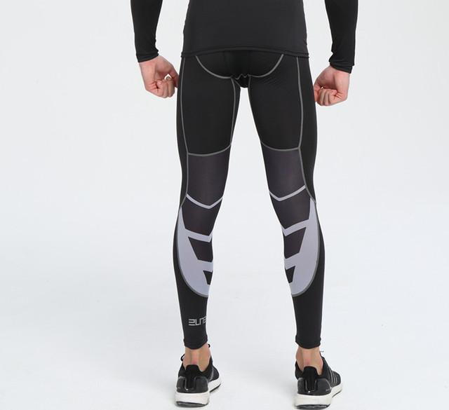 Men MMA Boxing Shorts Compression Pants Rashguard Fitness Long Sleeves Base Layer Skin Tight Men T Shirts