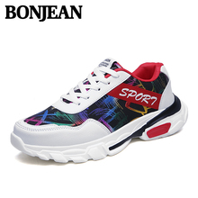 2019 Trendy Mens Shoes Doodle Upper Sneakers Vintage Fashion Old Summer New High Krasovki Tennis