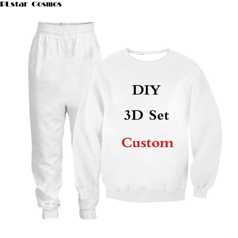 PLstar Cosmos 3D Print DIY Custom Design Men/Women Sweatshirt pants suit Fashion clothing Drop Shipping Wholesalers