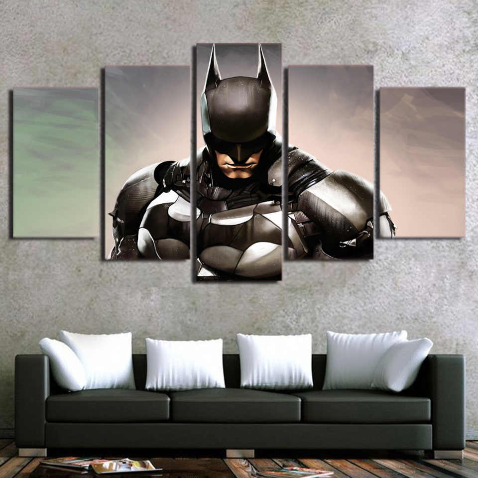 Modern Canvas Painting Frame HD Printed Wall Art Pictures 5 Pieces Movie Characters Justice League Batman Poster Room Home Decor