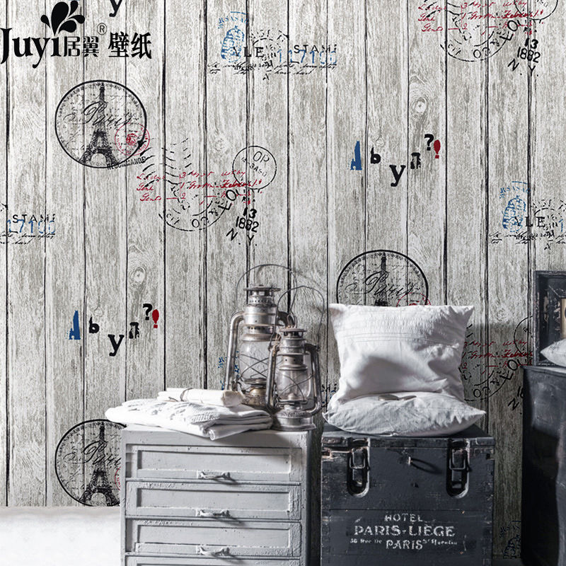 simulacin wood wallpaper oro azul marrn gris del papel de empapelar para paredes cafe bar de televisin de fondo papel de parede murales de pared ab en