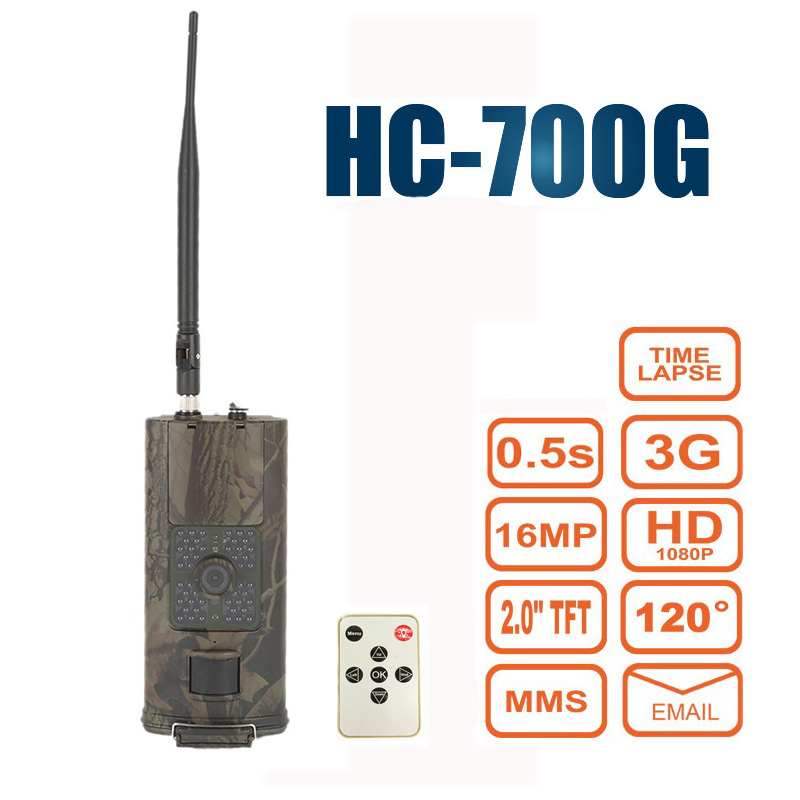<font><b>HC</b></font>-<font><b>700G</b></font> 16MP Hunting Camera Photo Trap 3G GPRS MMS SMTP SMS Infrared Night Vision Wildlife Animal Digital Chasse Trail Cameras image