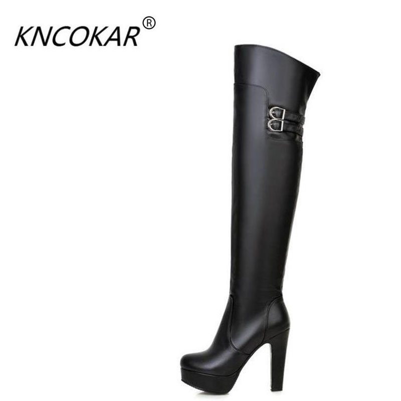 Hot sale female round head thick with super  heels knee-high boots  knights of the spring and autumn period  big size zipper p80 panasonic super high cost complete air cutter torches torch head body straigh machine arc starting 12foot