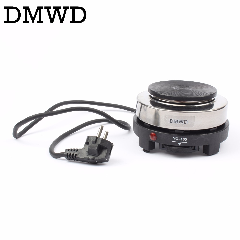 DMWD MINI electric stove oven cooker multifunctional small Coffee Heater Mocha heating hot plates Coffee milk machine 500w EU US dmwd multifunctional electric cooker mini heating pan stainless steel hotpot noodles rice steamer steamed eggs soup pot 2l eu us