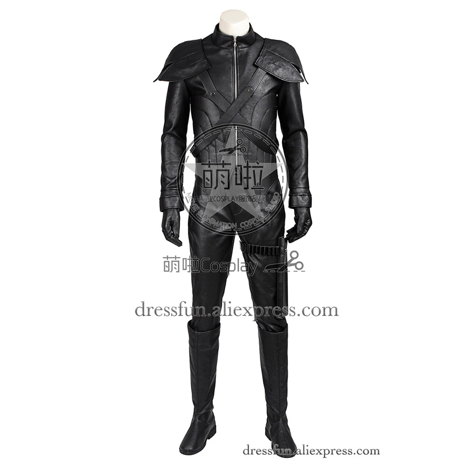 Final Fantasy VII Advent Children Cosplay Costume Loz Costume Black Outfits Full Set Suit Uniform Halloween Christmas Fast
