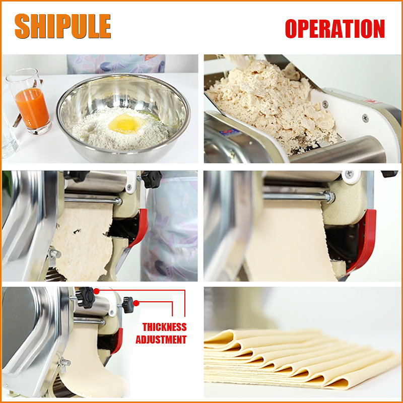 SHIPULE Electric Pasta Machine Stainless Steel Pasta Maker Dough Thickness Adjustable Noodle Maker Machine набор для кухни pasta grande 1126804