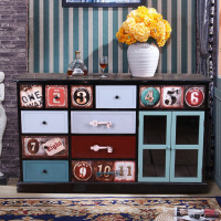 American Country Retro Antique Furniture Old Antique Chest Of Drawers Storage Admission Display Cabinet Accessories