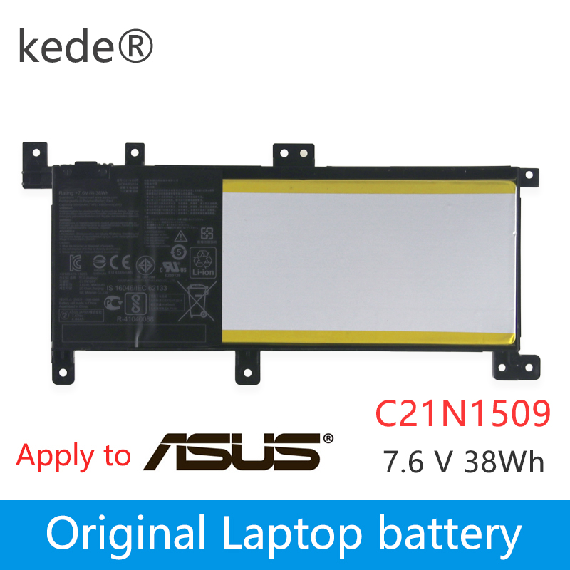 Kede  New C21N1509 Laptop Battery For ASUS Notebook X556UA X556UB X556UF X556UJ X556UQ X556UR X556UV A556U FL5900U