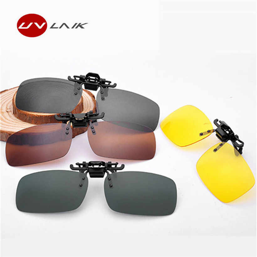 4e192b87a7 Men Women Retro Flip Up Polarized Sunglasses Clip On Myopia Glasses Kids Day  Night Vision Goggles