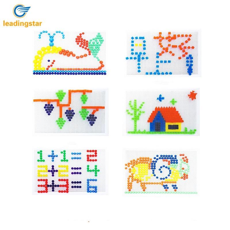 Leadingstar 96 шт. грибами Булавки головоломки иллюстрации доска детей Логические 3D Игрушечные лошадки Рождественский подарок zk25