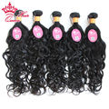 Queen Hair Products Indian Virgin Hair Water Wave 5pcs Lot Natural Hair Extensions Unprocessed Virgin Human Hair Weaves DHL Free