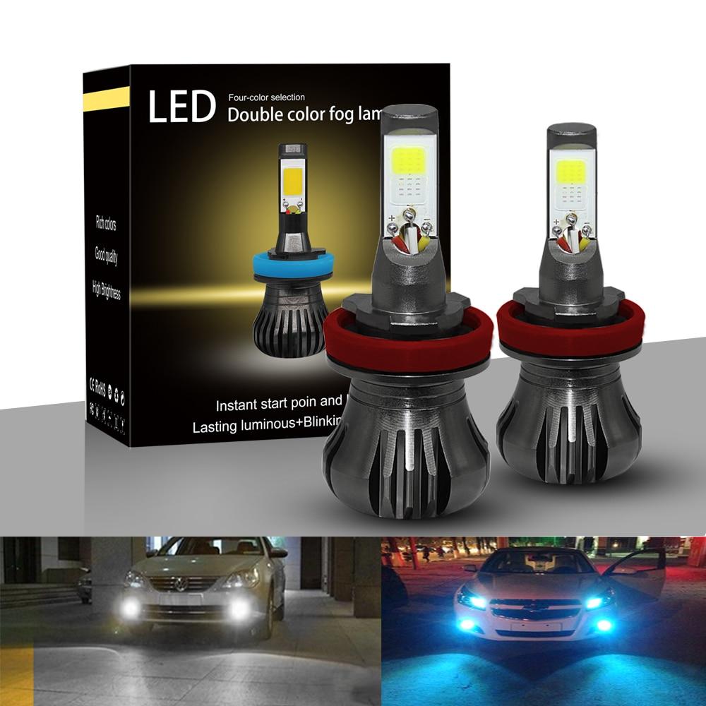 LED Car Light Auto Bulbs H3 880 H27 H8 H11 9600lm 12V Bright Headlight 6000k Led