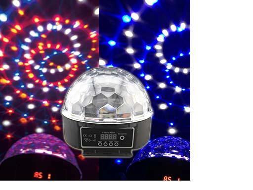 RA-T-02,DMX512 colorful LED crystal magic ball light with remote controller,sound controlled,KTV,bar dmx512 digital display 24ch dmx address controller dc5v 24v each ch max 3a 8 groups rgb controller