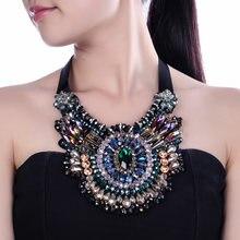 Женский кулон ювелирные изделия цепочка с кристаллами