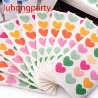 1 paquete = 10 piezas de colores corazón amor que bolsillo servilleta papel higiénico tejido café hotel boda fiesta Decoración suministros