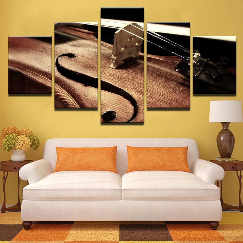 5 Pieces Violin String Paintings Living Room Musical ...