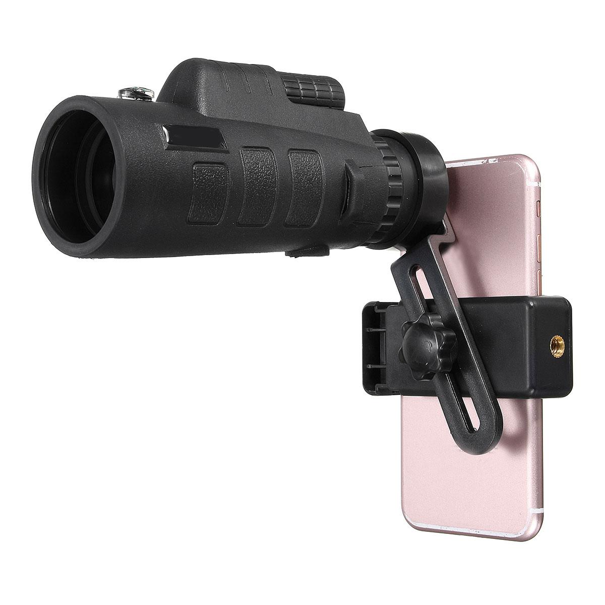 35x50 Zoom Téléphone Camera Lens Monoculaire Télescope + Support Universel Clip Extérieure pour Téléphone