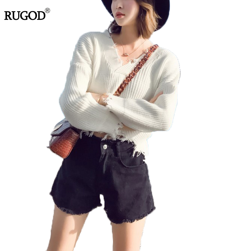 6474ce29bed Rugod Autumn Women Cashmere Sweaters Casual Slim Tops Blouse Sweater Outfit  Jumper Pullover 2018 Winter Sweaters ...