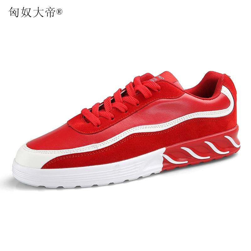 2018 Doux Automne En Or rouge Mode Sneakers Tendance Chaussures Adulte gris Populaire Nouvelle Qualité Cuir Pu Printemps blanc Designer Hommes De Pour Mâle rIx4Fr
