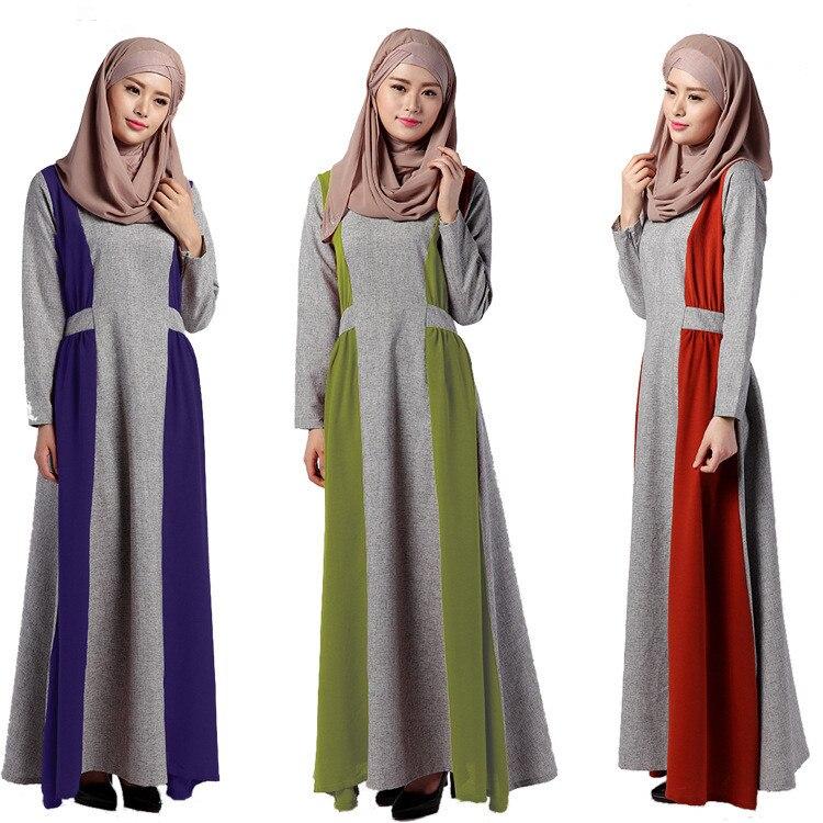 New font b Abaya b font Floor Length Dress Muslim Women s Modern font b Islamic