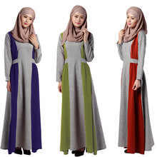 New Abaya Floor-Length Dress Muslim Women's Modern Islamic Long Sleeves Jibabs Kaftan Pleated Robe Adult Fashion Dresses