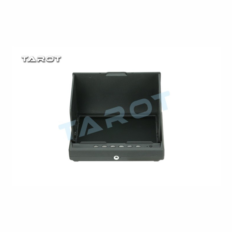 Tarot-rc 5.8G 32 fréquence Double récepteur 7 pouces LCD HD FPV moniteur afficheur aérien sans fil AV diversité RX TL2967