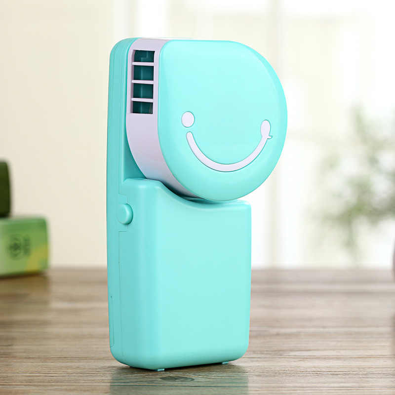 Mini Air Conditioner Mini USB Fan Smile Face Fan Portable Hand Held Desk Humidification Outdoor Travelling Handheld