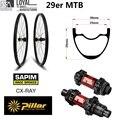 345 г Супер легкий вес 29er MTB обод из углеволокна колесо горного велосипеда XC колесная бескамерная Готовая с DT Swiss 240 концентратор