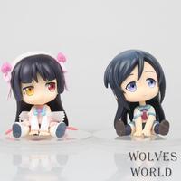 Anime Figürü 7 CM S Versiyonu 2 adet/takım Cevher hiçbir imouto ga konnani kawaii wake ga nai Gokou Ruri PVC Action Figure Koleksiyonu Model