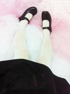 Image 5 - Милая женская обувь для косплея Алисы в стране чудес Лолита горничная с круглым носком японская школьная форма Мария Джейн на плоской подошве Uwabaki