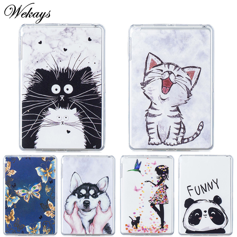 Wekays For Huawei T3 9.6 Honor Play Pad 2 Cartoon Soft Silicone Fundas Case For Huawei MediaPad T3 10 AGS-W09 AGS-L09 Cover Case